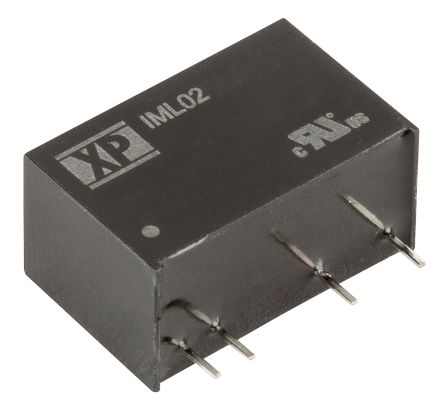 XP Power IML02 2W Isolated DC-DC Converter Through Hole, Voltage in 4.5 → 5.5 V dc, Voltage out ±12V dc Medical