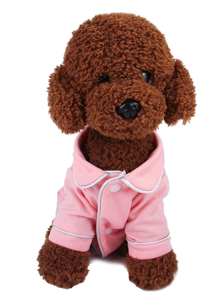 Milanoo Pet Costume Pink Clothes Polyester Pet Supply