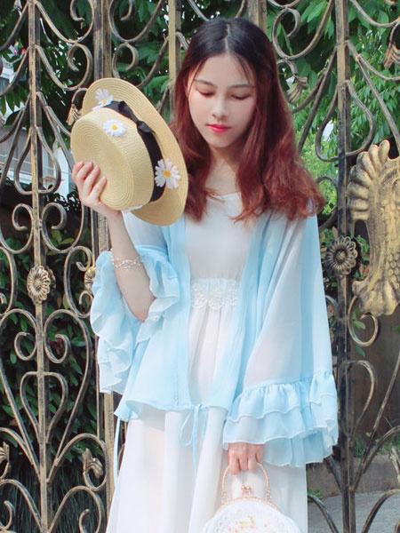 Milanoo Chinese Style Lolita Shirt Ruffle Chiffon White Lolita Blouse