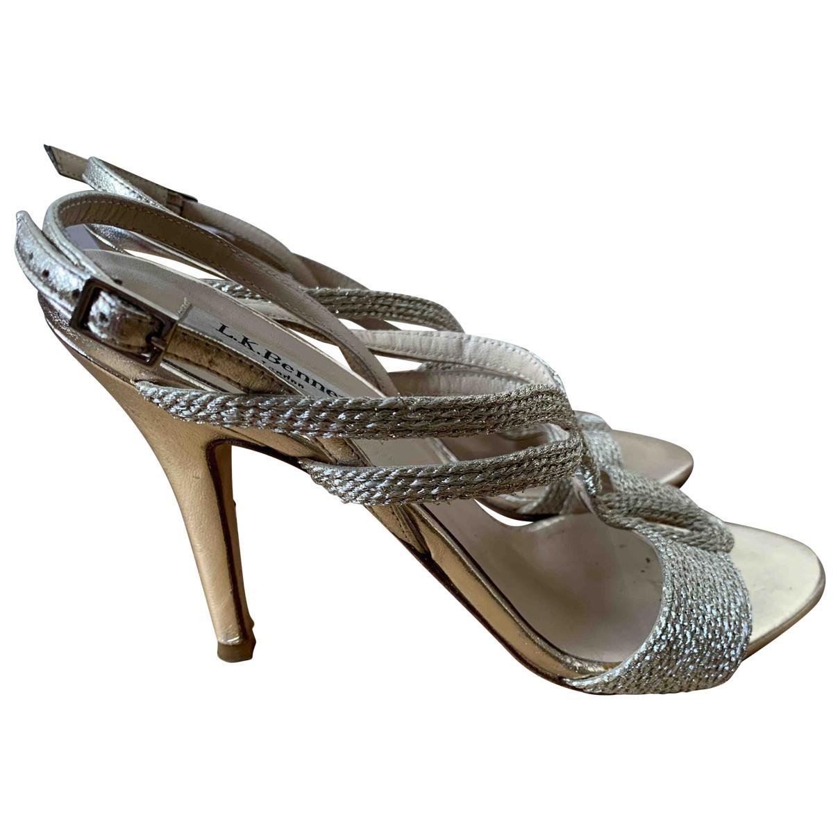 Lk Bennett \N Silver Leather Heels for Women 39 EU