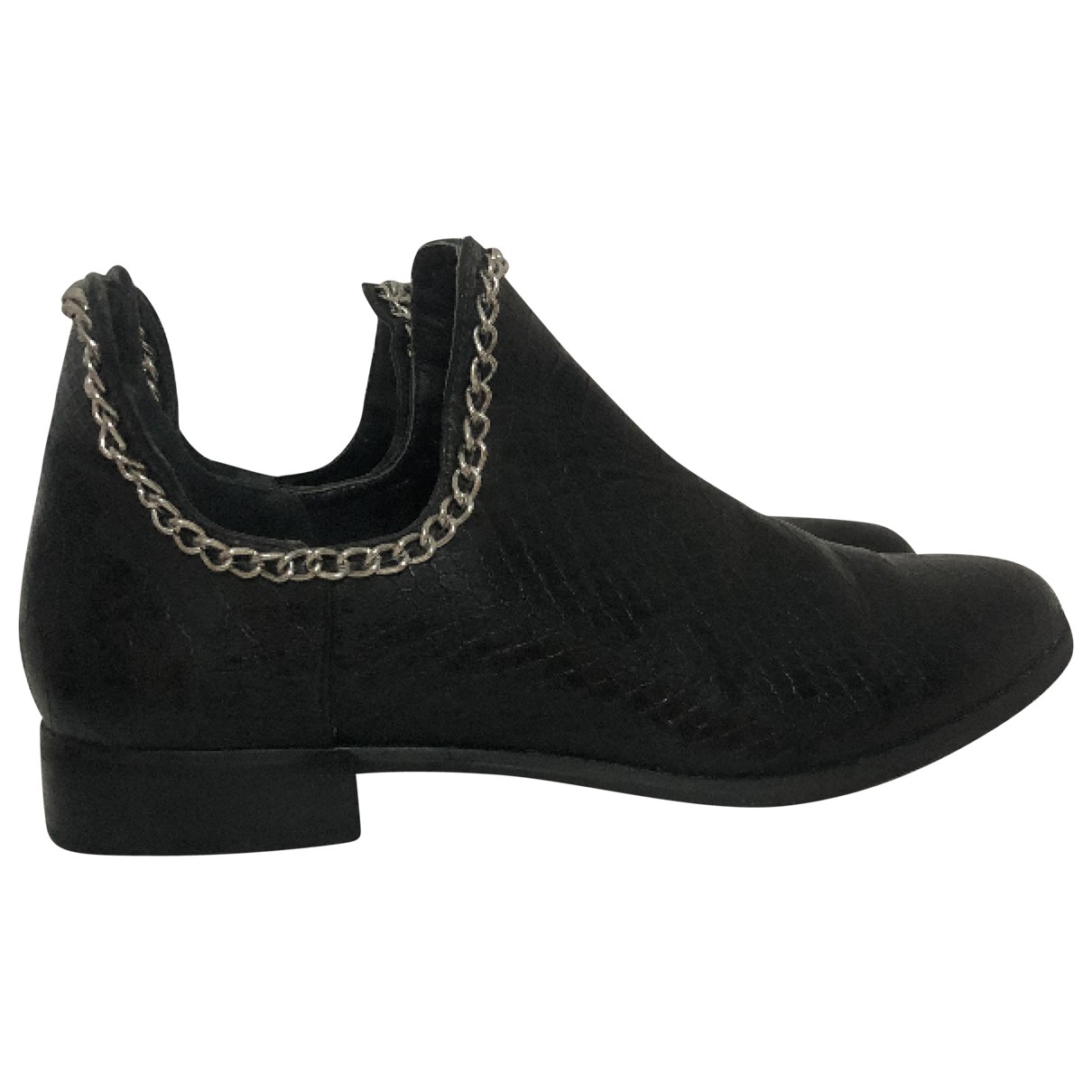 Asos \N Black Leather Ankle boots for Women 37 EU