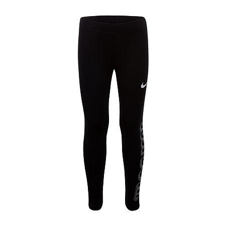 Nike Little Girls Legging, 6 , Black