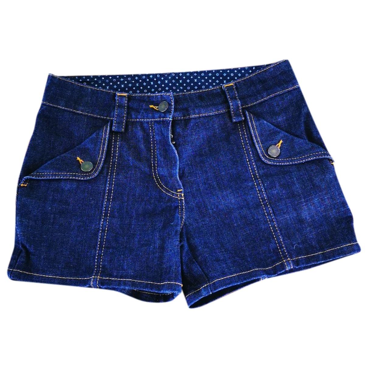 Louis Vuitton \N Blue Cotton Shorts for Women 38 FR