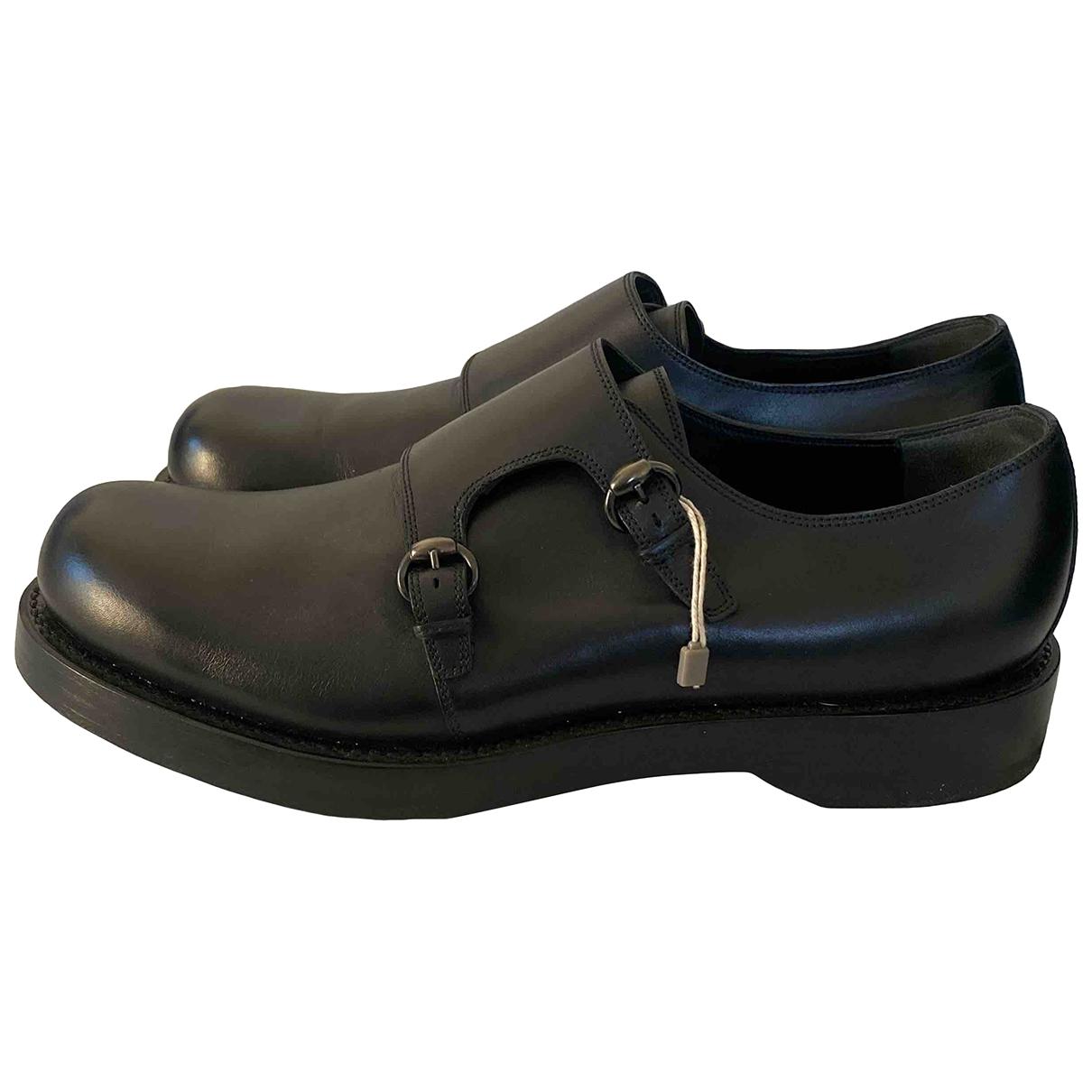 Gucci \N Black Leather Flats for Men 9.5 UK