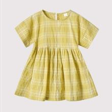 Toddler Girls Plaid Smock Dress