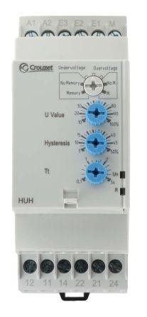 Crouzet Voltage Monitoring Relay With DPDT Contacts, 24 → 240 V ac/dc Supply Voltage, Overvoltage, Undervoltage