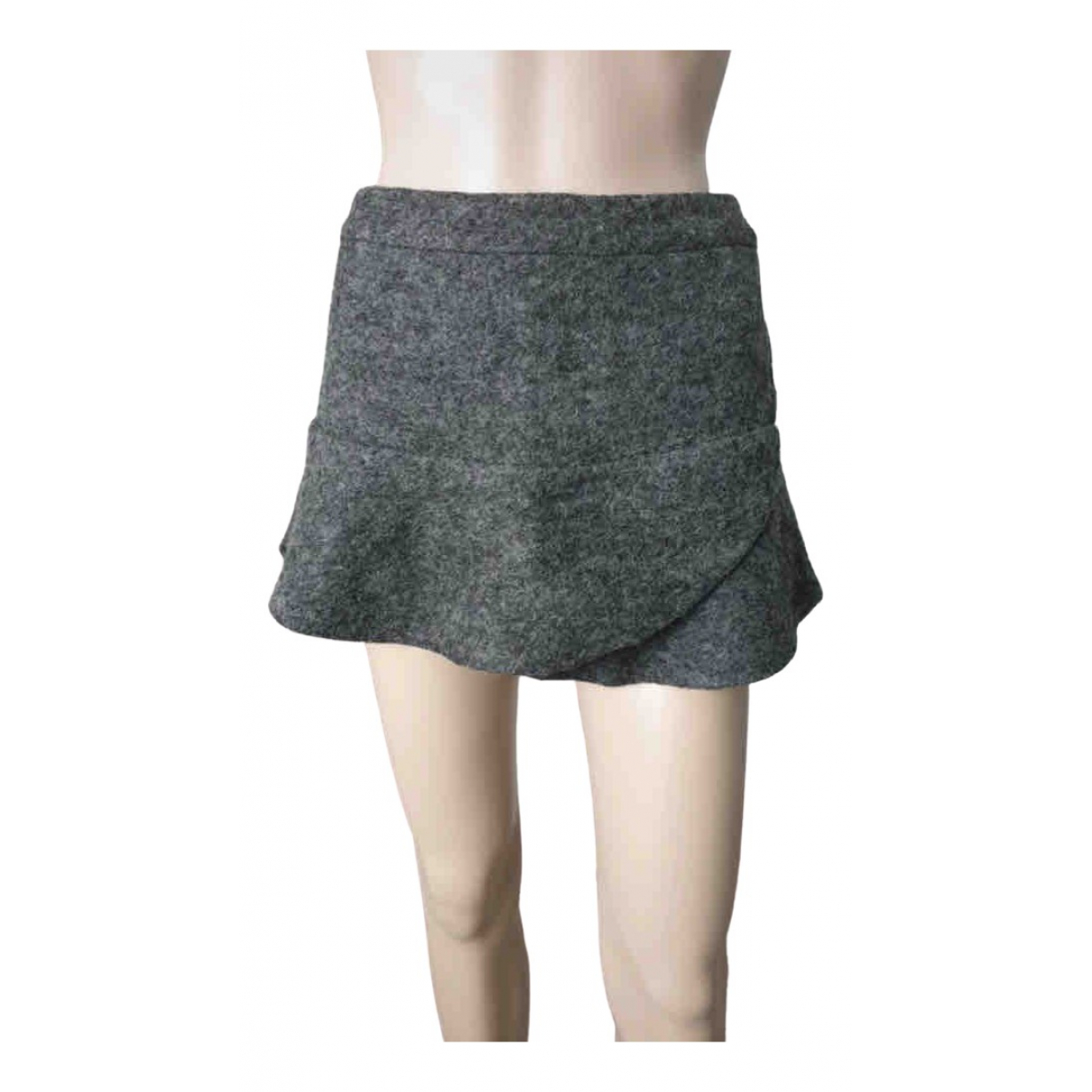 Mango \N Grey Wool skirt for Women 38 FR