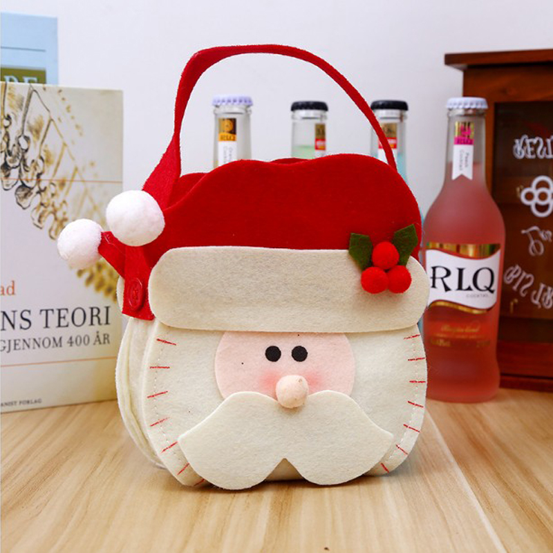 Good-quality Nonwoven Santa Snowman Reindeer Pattern Christmas Hand Bag