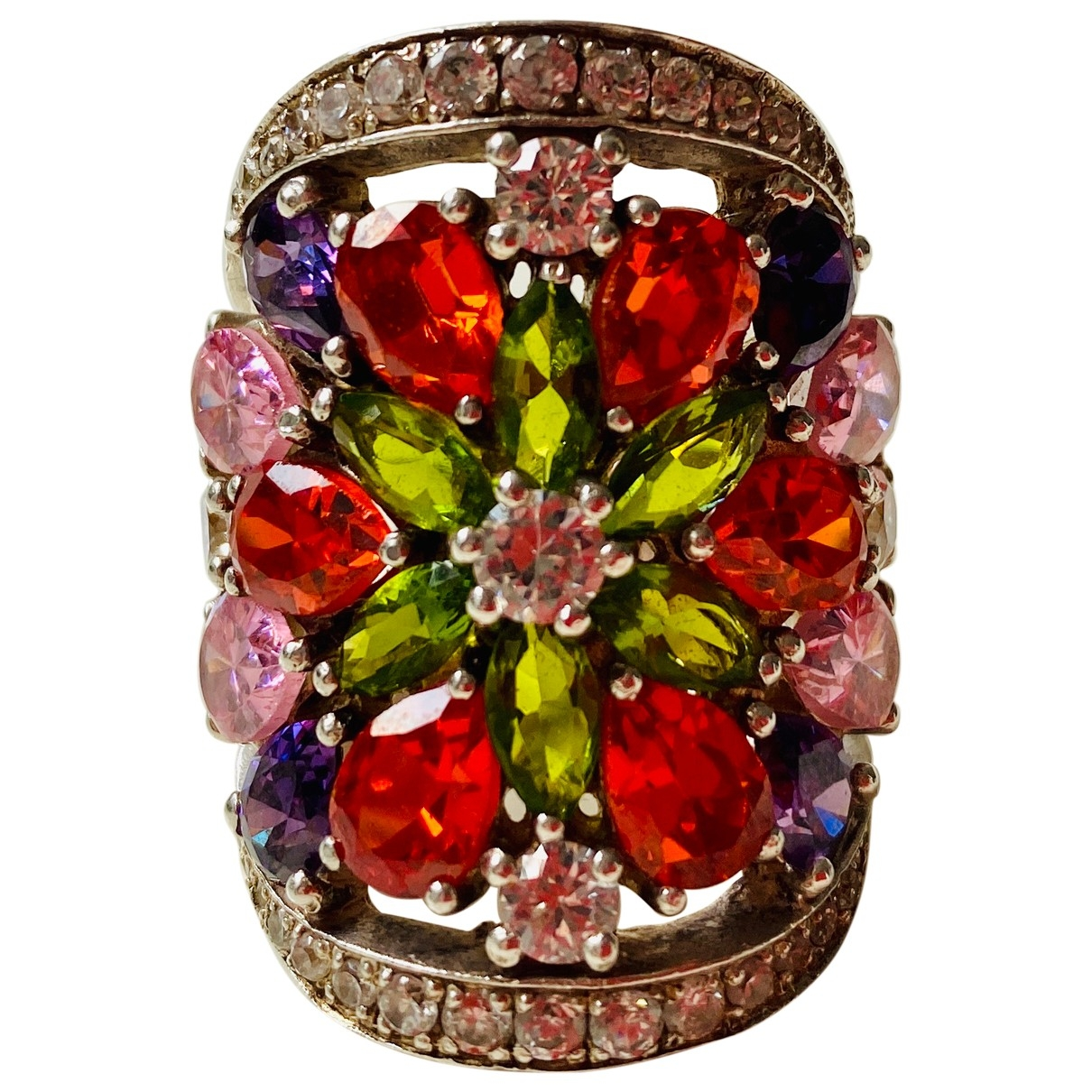 Non Signé / Unsigned \N Multicolour Silver ring for Women R UK