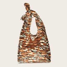Tiger Pattern Shoulder Bag