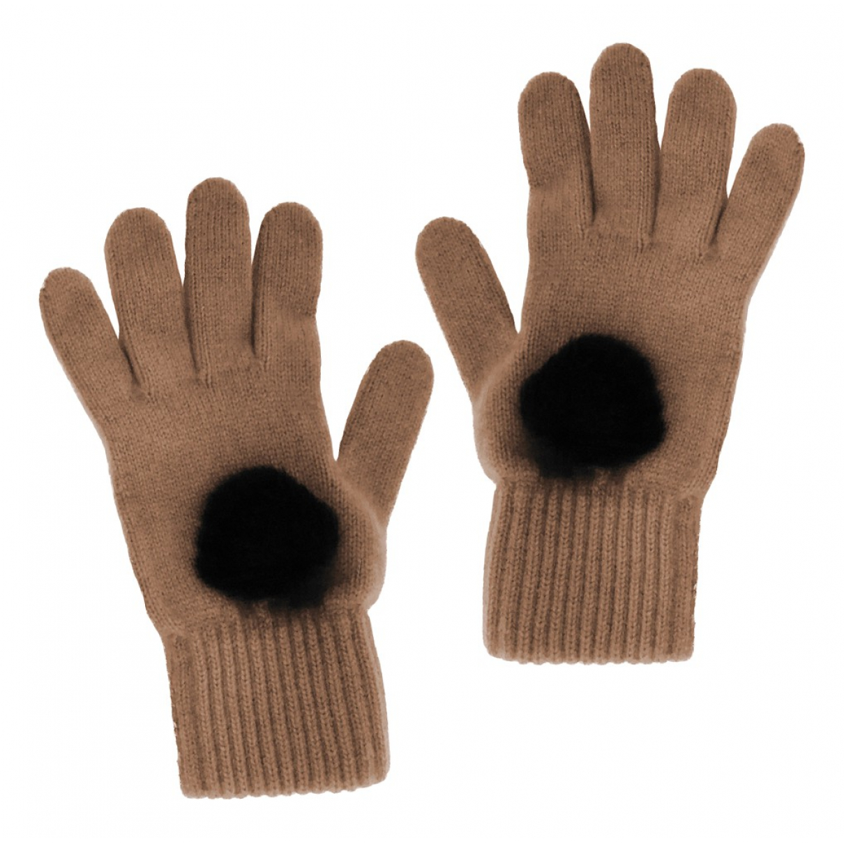 Stefanel \N Beige Cashmere Gloves for Women M International