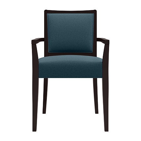 O'Neil Dark Frame Dining Arm Chair 2-Pack, One Size , Blue