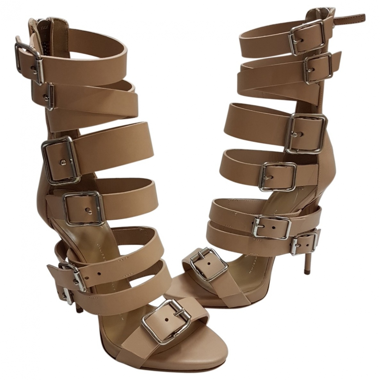 Giuseppe Zanotti \N Beige Leather Heels for Women 36 EU