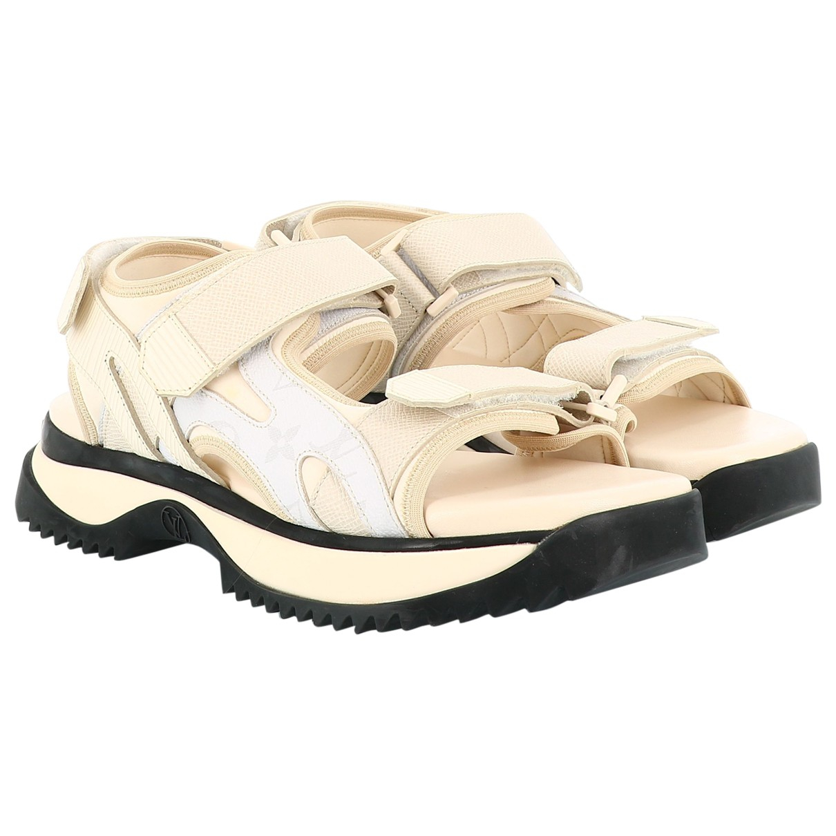 Louis Vuitton \N Beige Leather Sandals for Women 42.5 EU