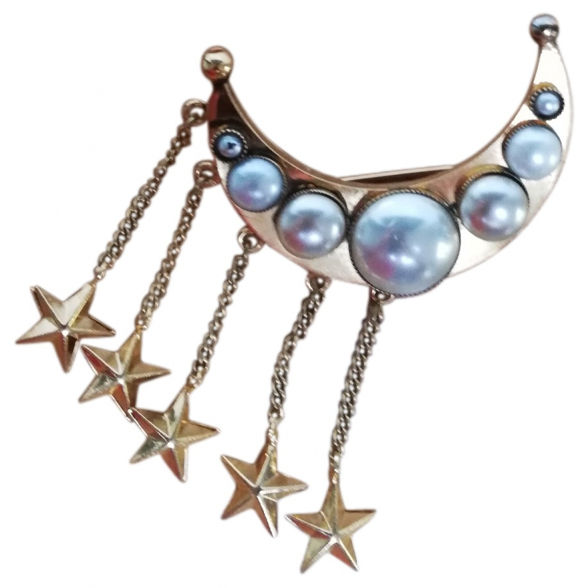 Moschino \N Gold Metal Pins & brooches for Women \N