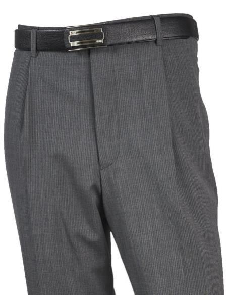 Mens Wool Flat Front Taupe Pant