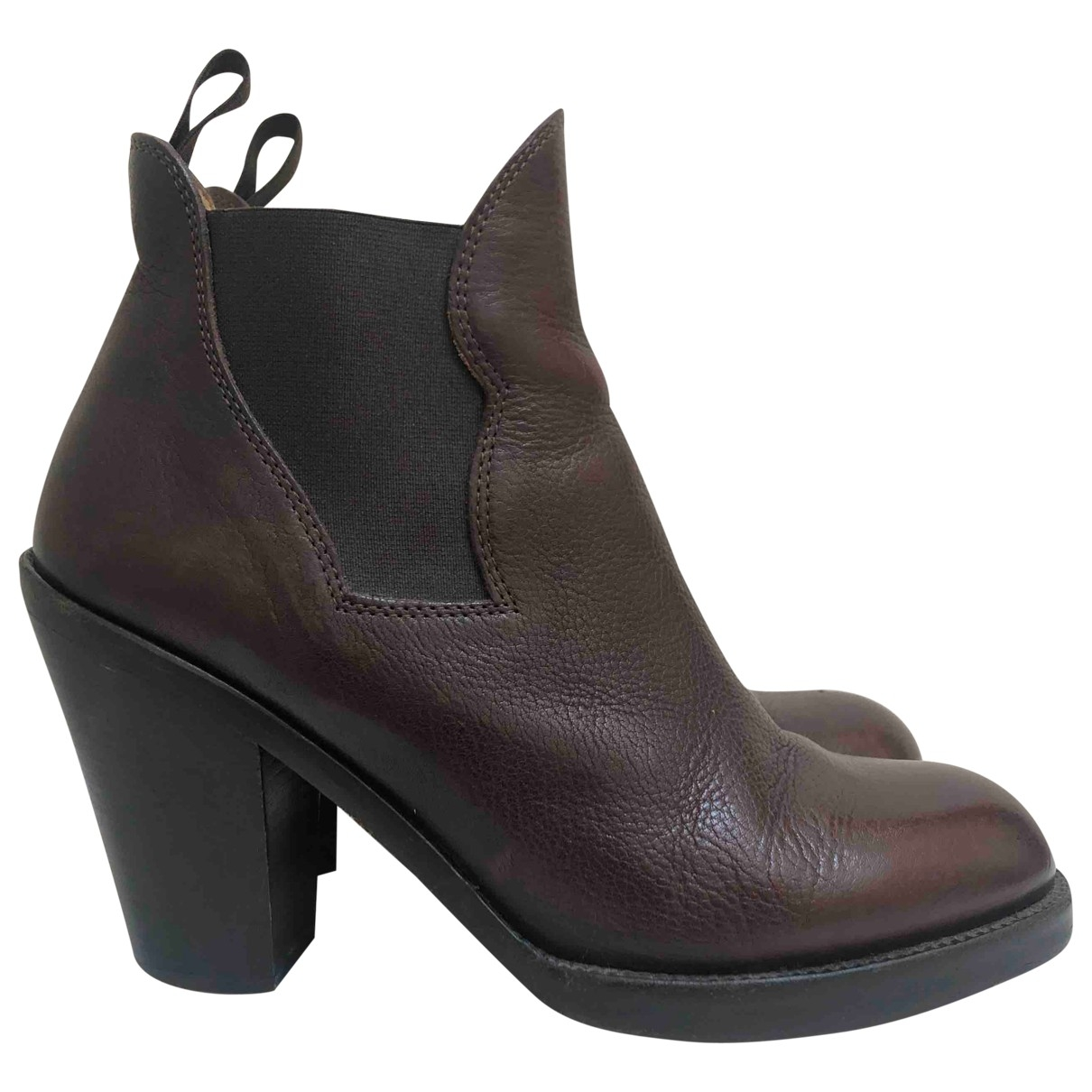 Acne Studios Star Brown Leather Ankle boots for Women 39 EU