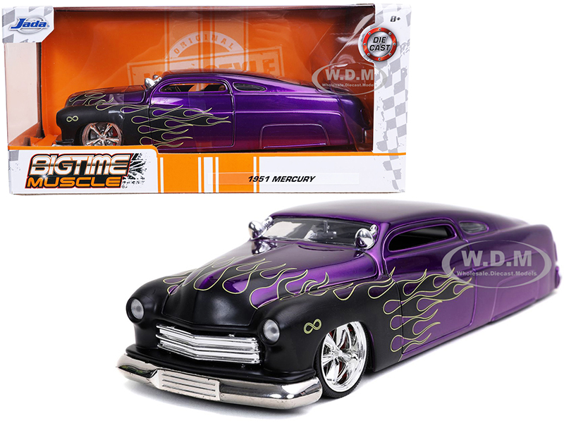 1951 Mercury Purple with Black Flames