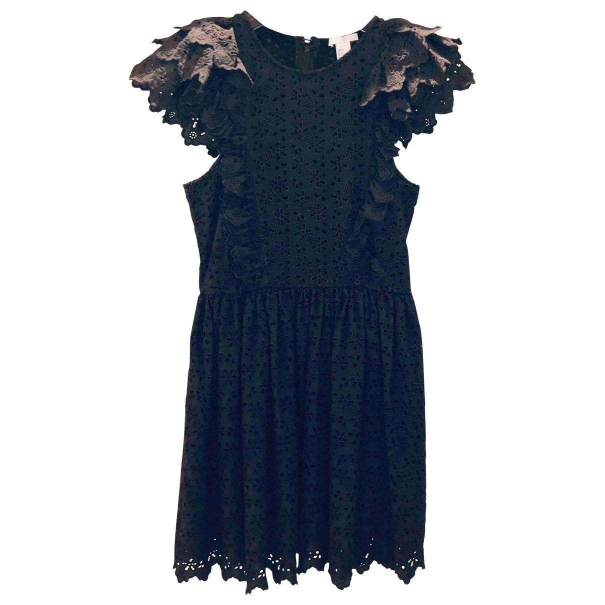 Non Signé / Unsigned \N Black Cotton dress for Women 38 FR