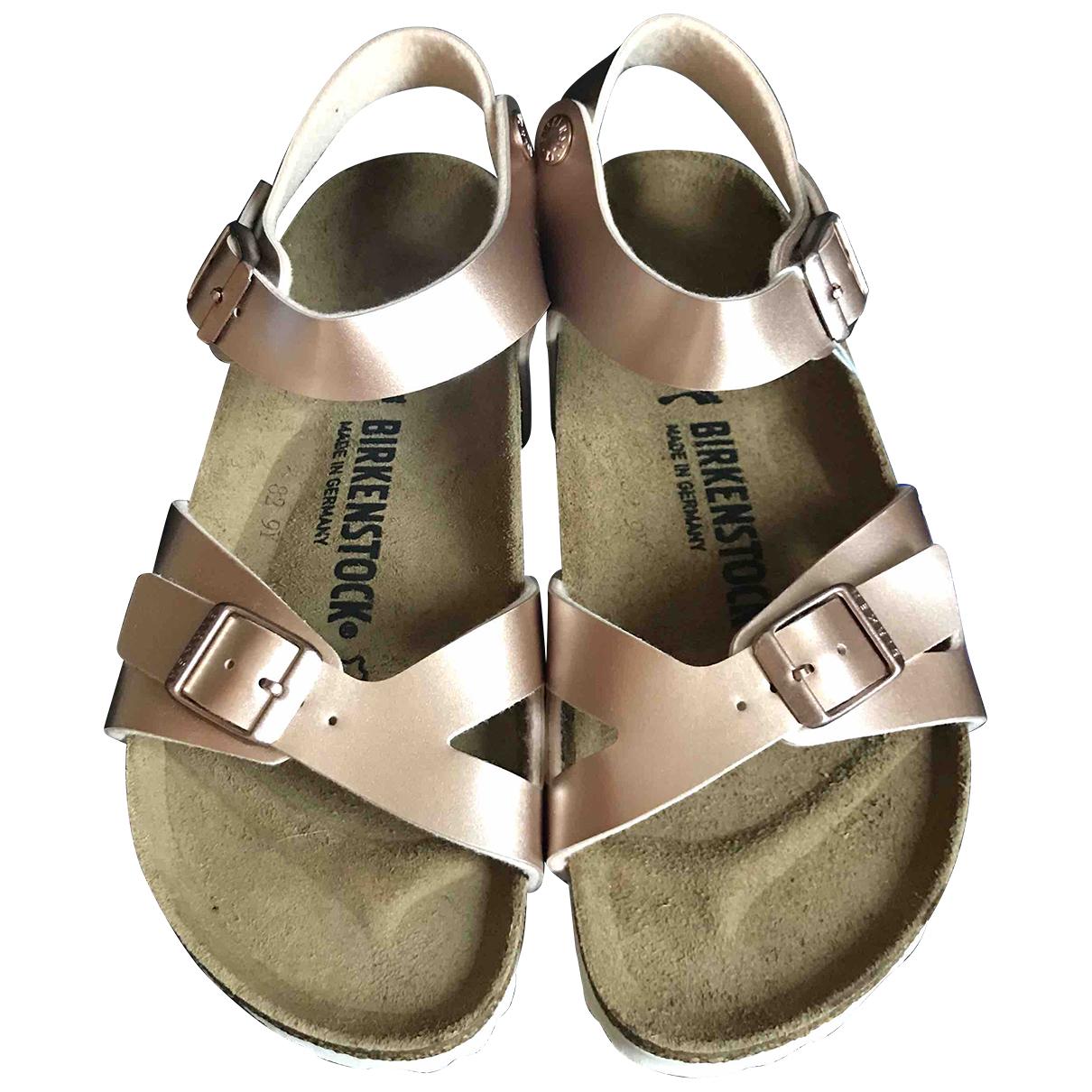 Birkenstock \N Metallic Cloth Sandals for Women 36 EU