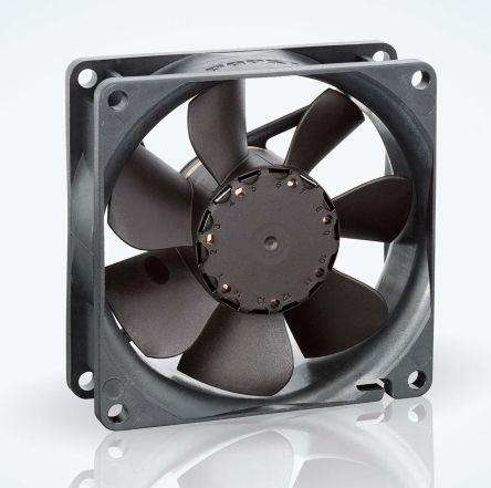 ebm-papst , 24 V dc, DC Axial Fan, 80 x 80 x 25mm, 79m³/h, 2.6W, IP20
