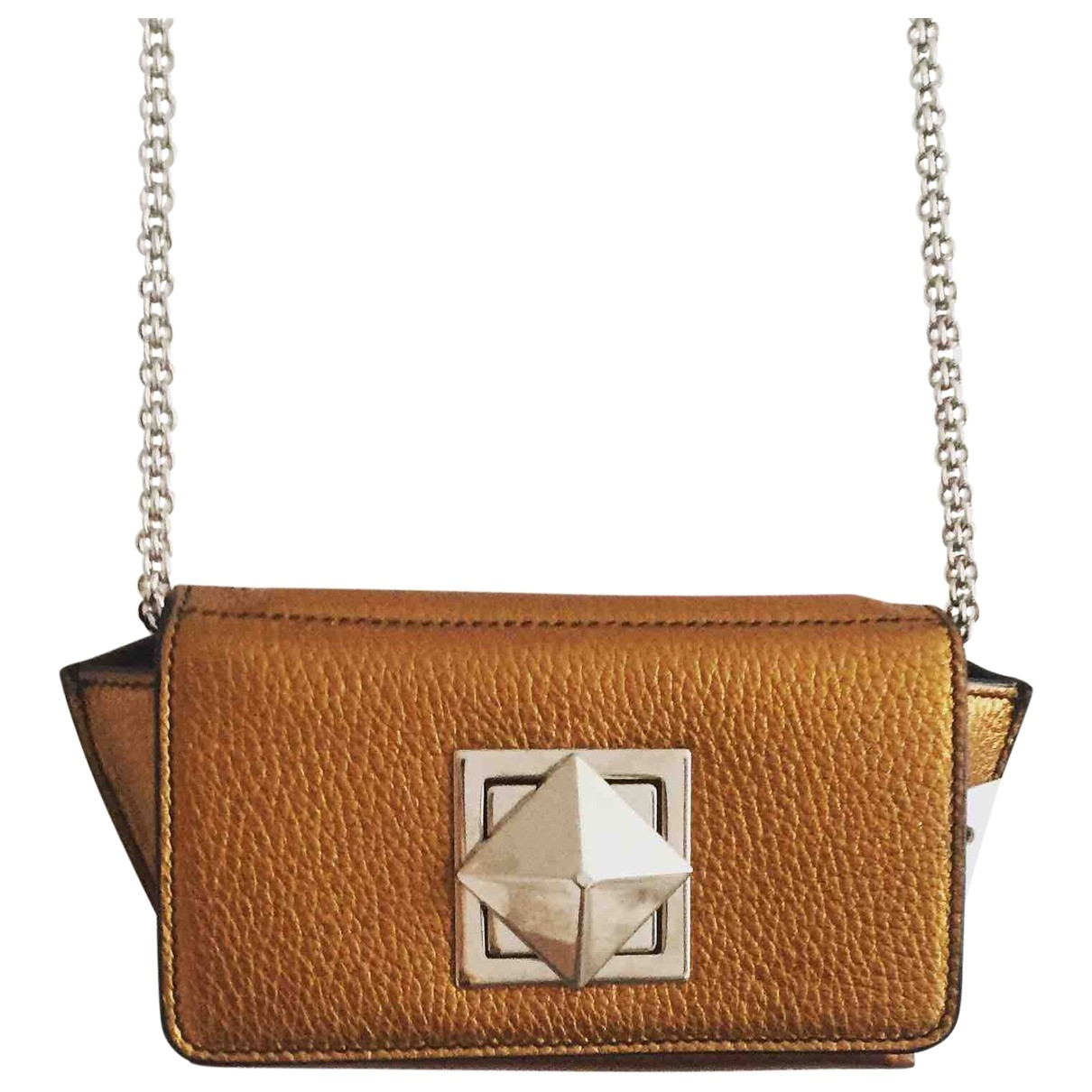 Sonia Rykiel Copain Gold Leather handbag for Women \N