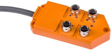 Lumberg Automation M12 Splitter Box 4 Port with LED