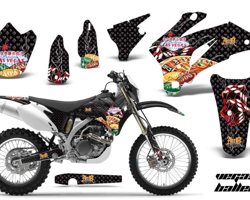 AMR Racing Dirt Bike Graphics Kit Decal Wrap For Yamaha WR250F 2007-2014 WR450F 2007-2011áVEGAS BLACK