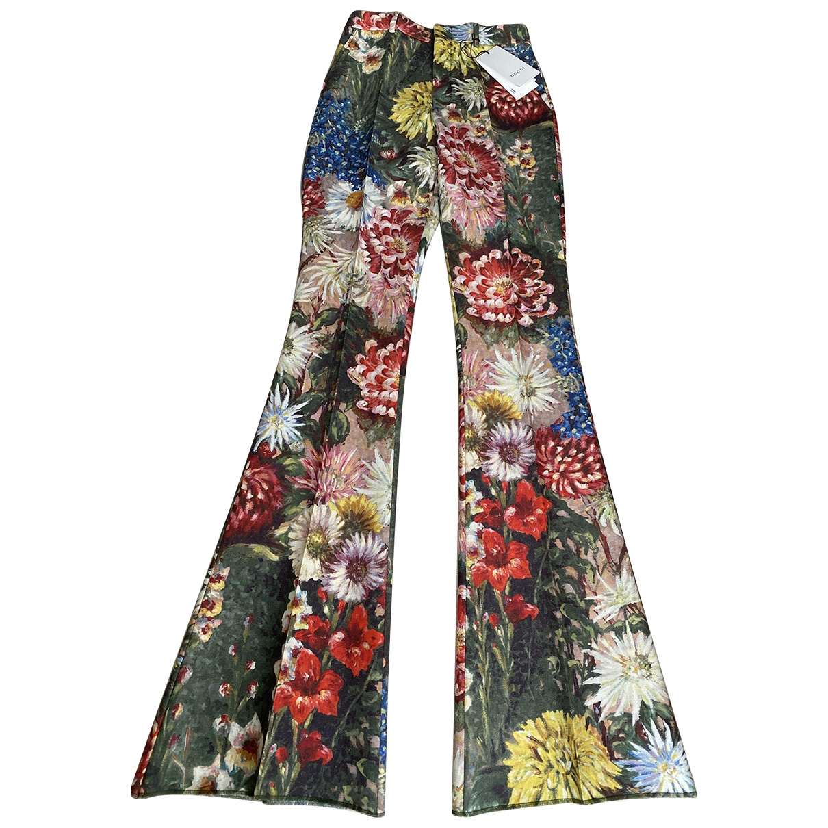 Gucci \N Multicolour Wool Trousers for Women 44 IT