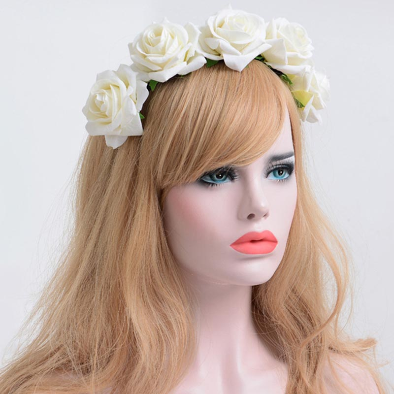 Colorful Rose Halloween Dance Party Cosplay Hair Decoration