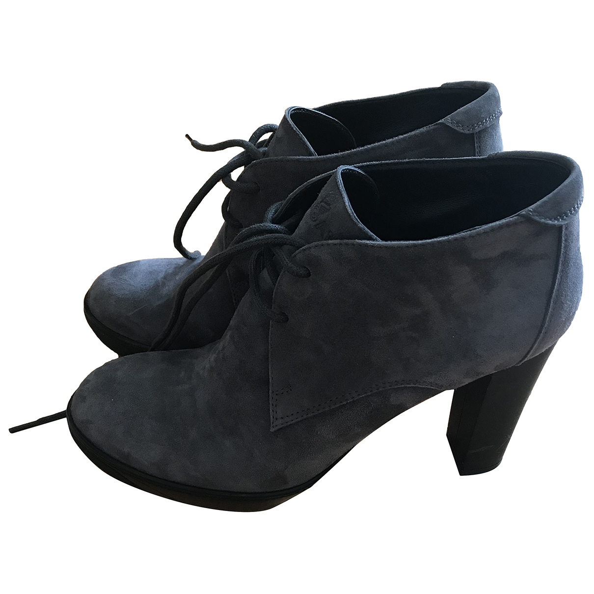 Hogan \N Grey Suede Ankle boots for Women 39.5 IT