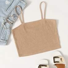 Rib-knit Cami Top