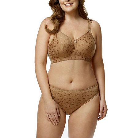 Elila Jacquard Softcup Full Coverage Bra, I , Brown