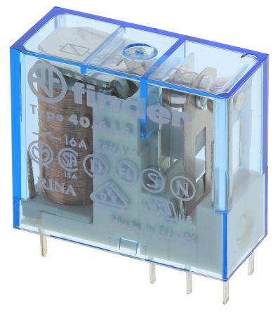 Finder , 48V dc Coil Non-Latching Relay SPDT, 16A Switching Current PCB Mount Single Pole