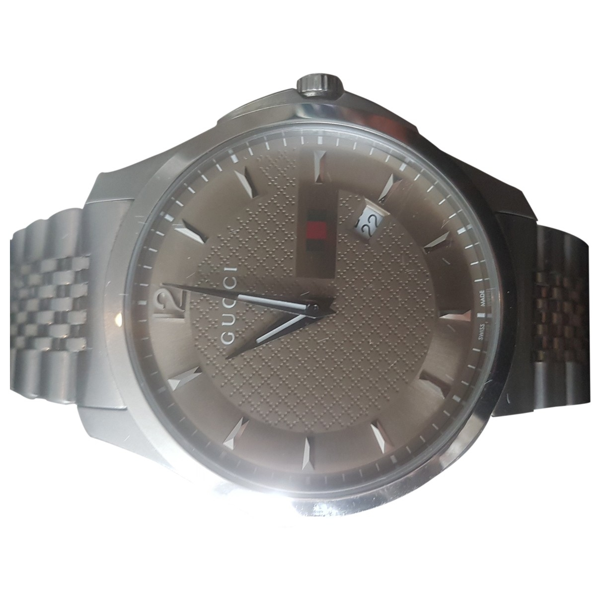 Gucci G-Chrono Silver Silver watch for Men \N