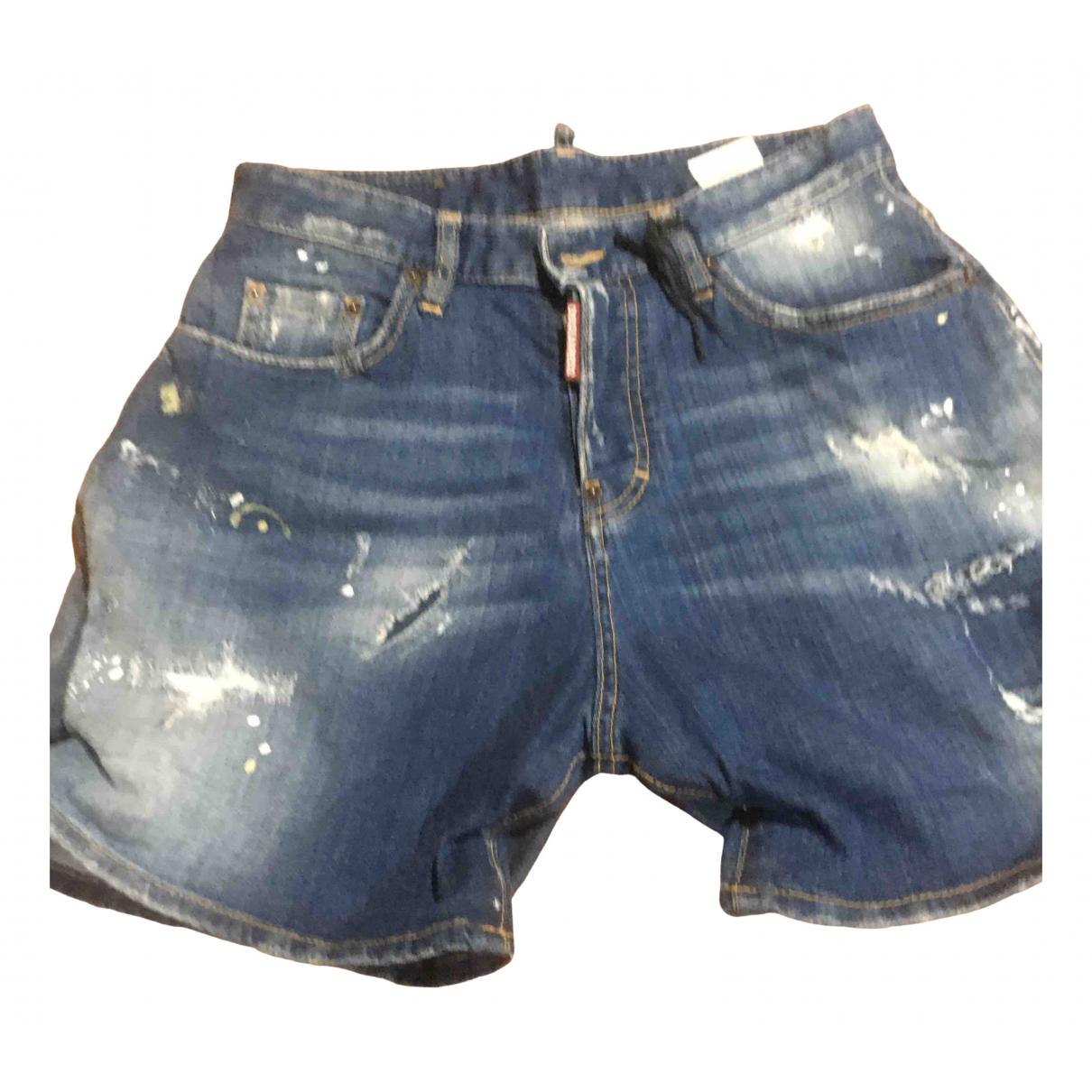 Dsquared2 \N Blue Denim - Jeans Shorts for Women 36 FR