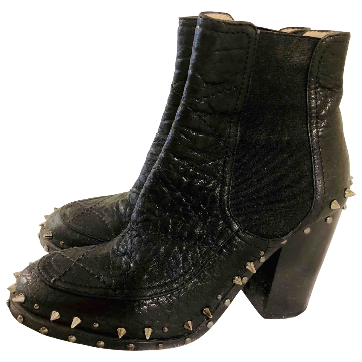 Laurence Dacade \N Black Leather Ankle boots for Women 37 EU