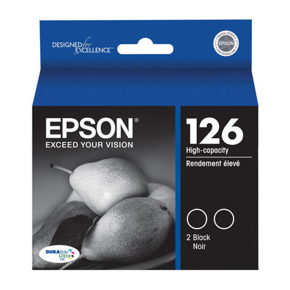 Epson T126120-D2 Original Black Ink Cartridge High Capacity - Twin Pack