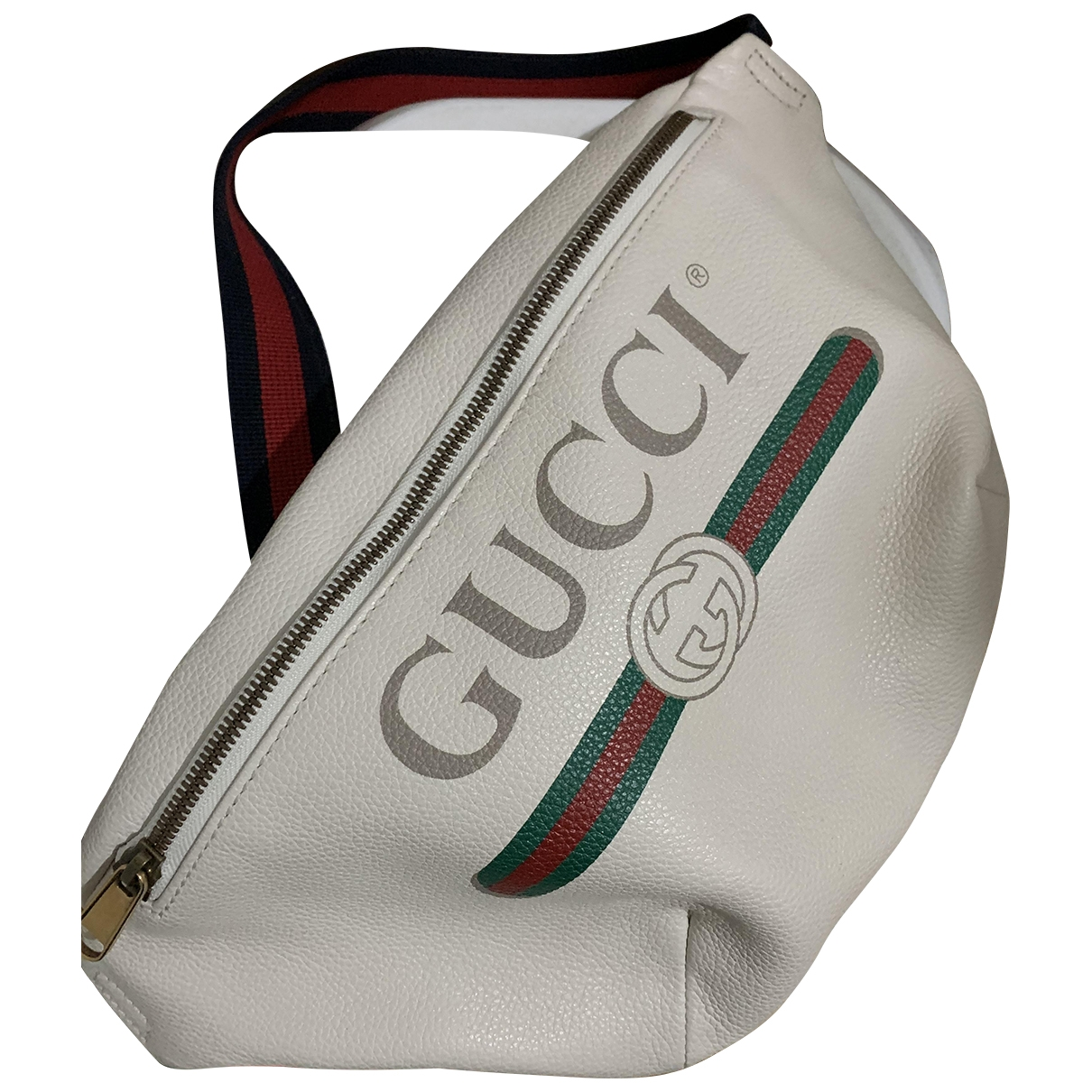 Gucci \N White Leather bag for Men \N