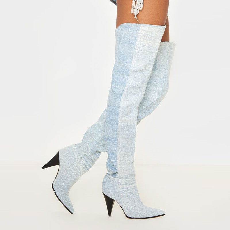 Ericdress Plain Slip-On Pointed Toe Casual Boots