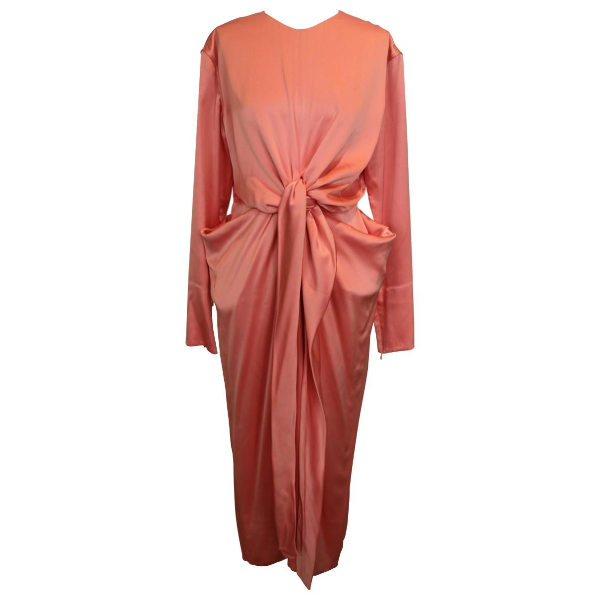 Celine \N Pink Silk dress for Women 40 FR