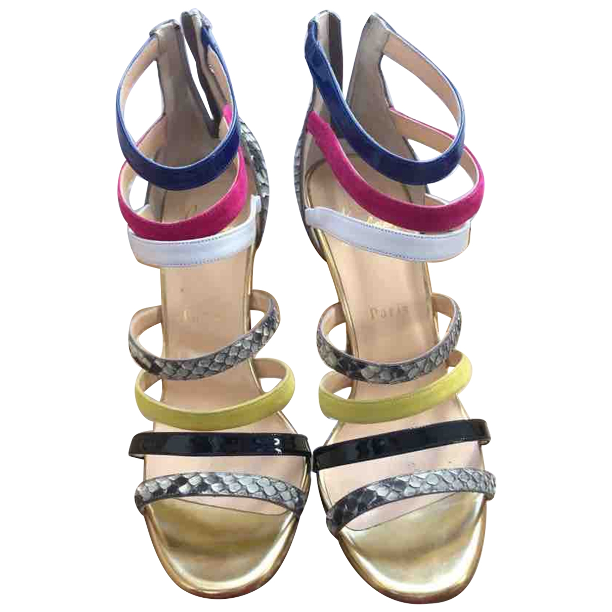 Christian Louboutin \N Multicolour Python Sandals for Women 39.5 EU