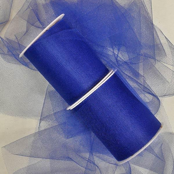 Fabric Cloth Royal Blue Tulle Rolls 18