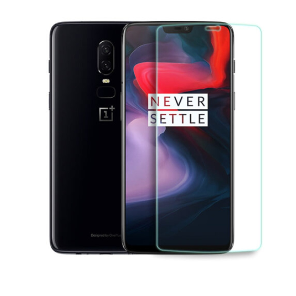 OnePlus 6 Tempered Glass 2.5D Arc Screen 0.3mm Protective Glass Film Screen Protector - Transparent