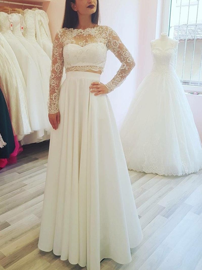 Ericdress 2 Pieces Lace Beach Wedding Dress
