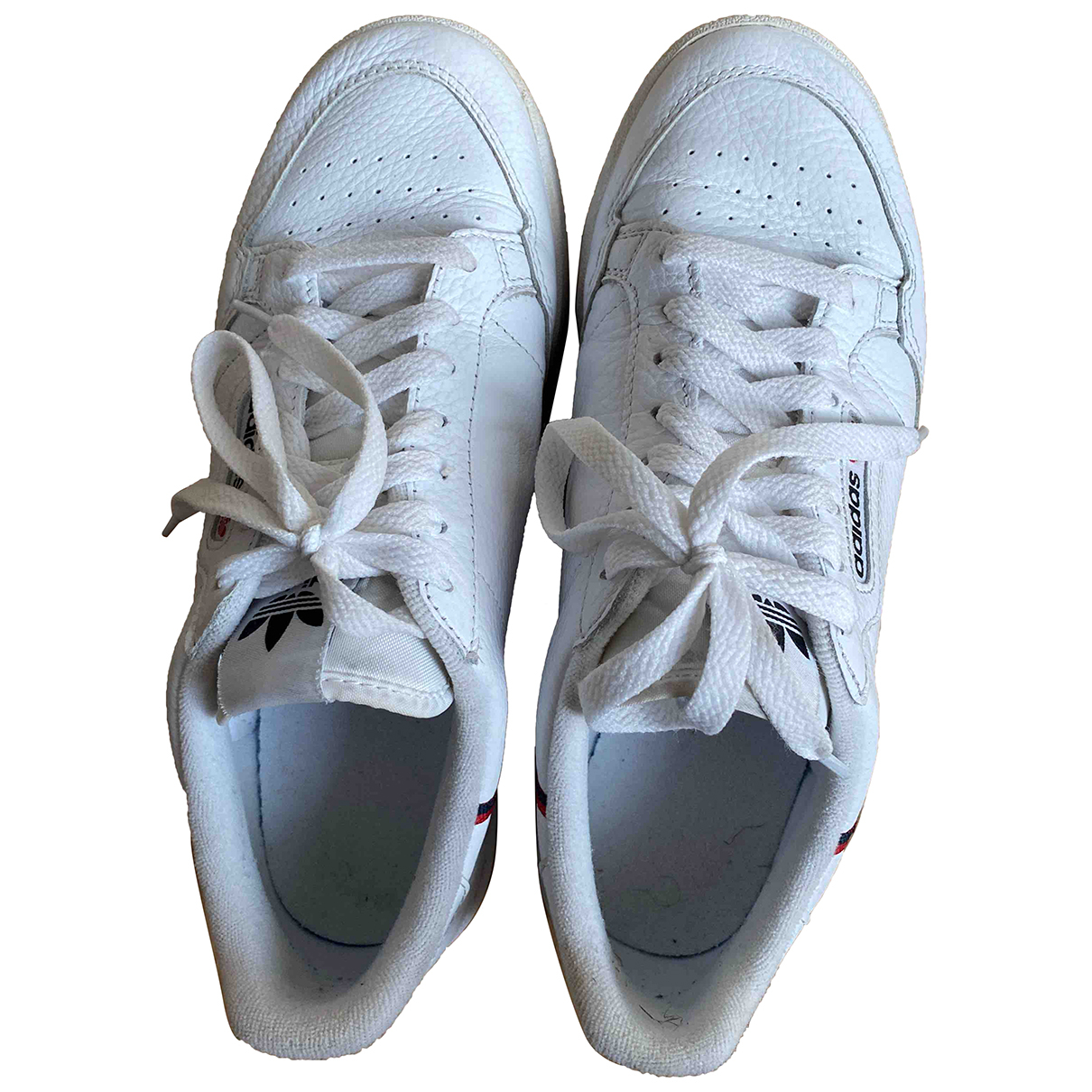 Adidas Continental 80 White Leather Trainers for Women 7 UK