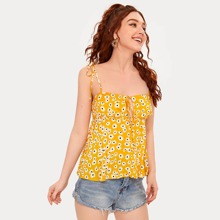 Daisy Floral Knot Cami Top