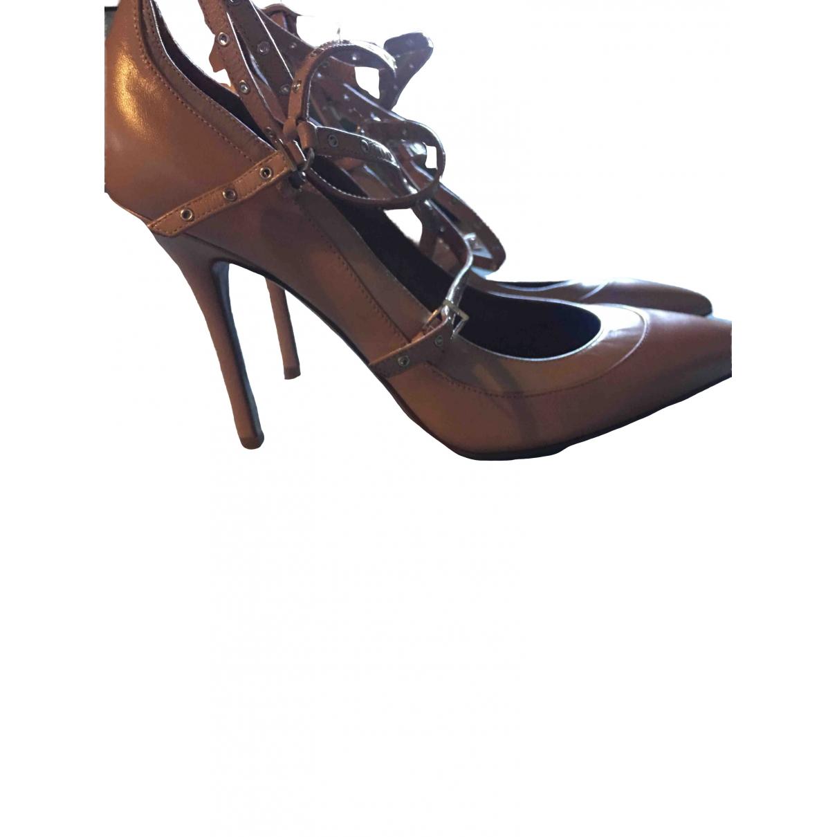 Valentino Garavani \N Ecru Leather Heels for Women 38.5 EU