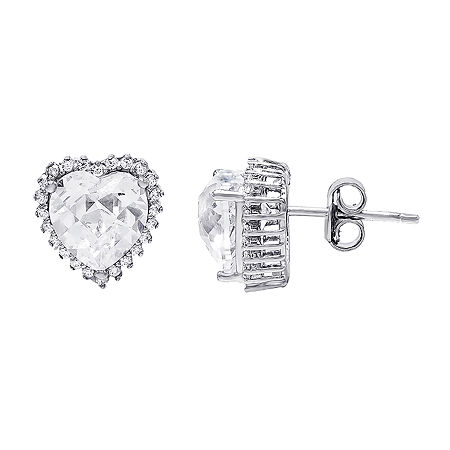 DiamonArt 5 1/2 CT. T.W. Cubic Zirconia Sterling Silver 16.4mm Stud Earrings, One Size , No Color Family