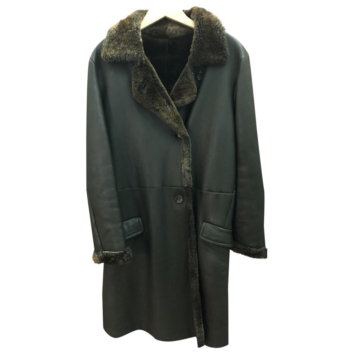 Jil Sander \N Brown Leather coat for Women 38 FR
